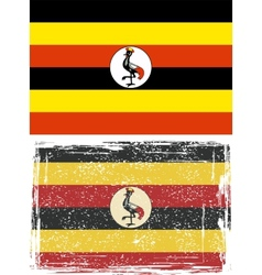 Uganda grunge flag Grunge effect can be cleaned vector image