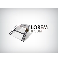 3d film strip tape logo vector
