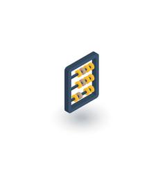 abacus school education mathematics vector image