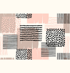 abstract geometric seamless pattern with trendy vector image