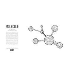 abstract silhouette polygonal molecule vector image