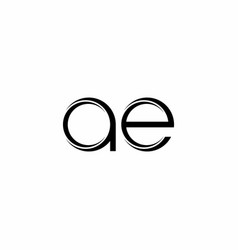 Ae logo monogram with slice rounded modern design vector