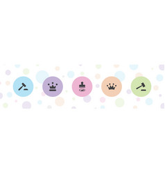 Authority icons vector