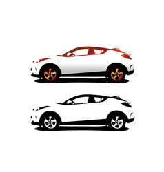 automotive car logo design vector image