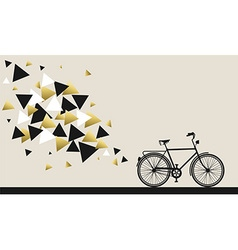 Bike concept with hipster gold geometry design vector