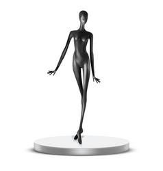 Black mannequin vector