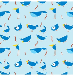 bluebirds seamless wallpaper vector image