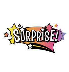 Bright surprise speech bubble vector