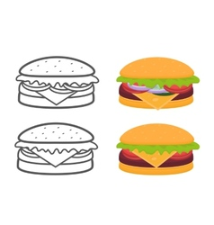 Burgers set vector image