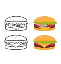 Burgers set vector