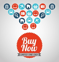 Buy now design vector