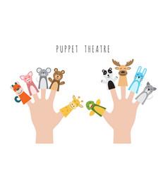 children puppet theatre vector image