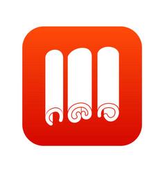 Cinnamon icon digital red vector