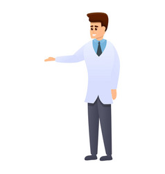 clinic chiropractor icon cartoon style vector image