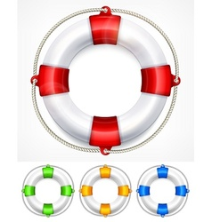 Color life buoy on white vector image