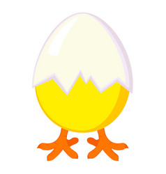 Colorful cartoon new chick is born vector