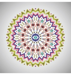 colorful decorative element in aztec style vector image