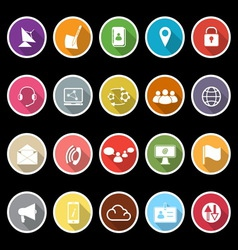 Communication icons with long shadow vector