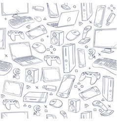 Computer game device social gaming sketch vector