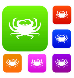 crab set collection vector image