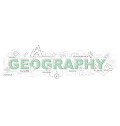 Creative of geography with line icon vector