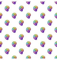 Curl in colours of LGBT pattern cartoon style vector