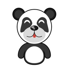 Cute panda animal character funny vector