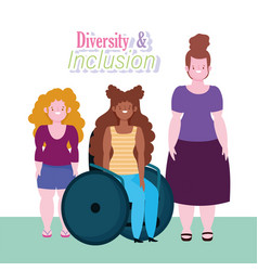 diversity and inclusion afroamerican woman vector image