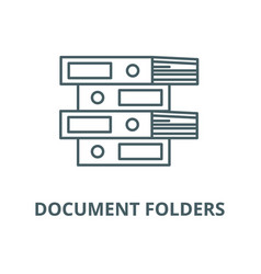 document folders line icon linear concept vector image