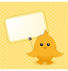 Easter chick and sign vector