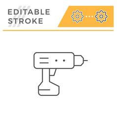 electric screwdriver line icon vector image