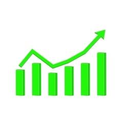 Financial statistic indication arrow up rising vector