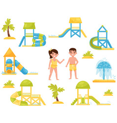 flat set of different children s water vector image