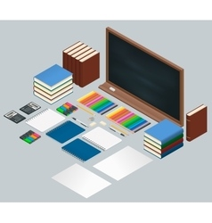 Flat style design concept of creative office vector