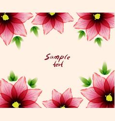 Flower card sample text vector