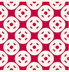 Funky seamless pattern in red and beige color vector