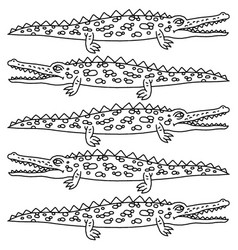 Funny crawling crocodile - vector