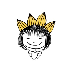 Girls princess with crown on head for your design vector image
