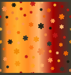 glossy flower pattern seamless background vector image