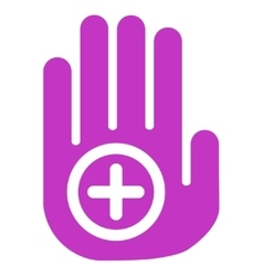 Hand medical marker icon vector