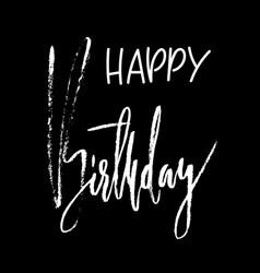 Happy birthday modern brush lettering for vector