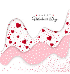 Happy valentines day greeting card holiday vector