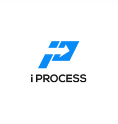 i process logo vector image