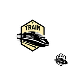 Isolated abstract black color train in square logo vector