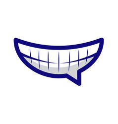 laughing emoticon chat emoji with wide smile vector image
