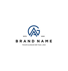 Letter ga logo design template vector