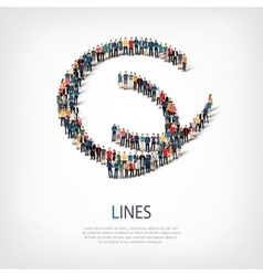 Lines people sign 3d vector