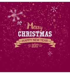 Merry Christmas golden typography vector image