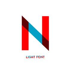 N light font template design vector