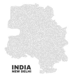 New delhi city map of points vector